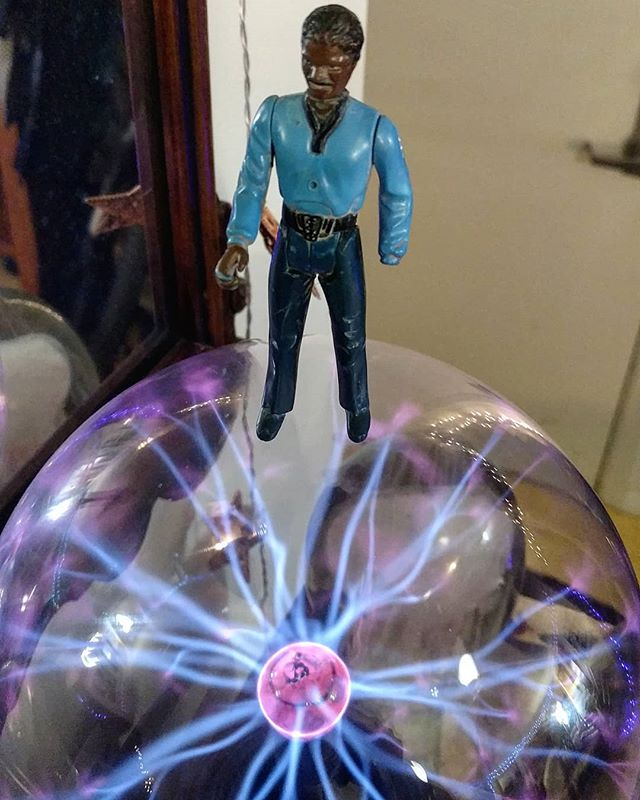 Introducing the Adventures Of Lando!  More exciting adventures of Lando Calrissian to come! He approves of this mission! 🎆🎇🌠 #starwars #adventures #landocalrissian #art #photography #2018 #adventuresoflando #stevesharonart