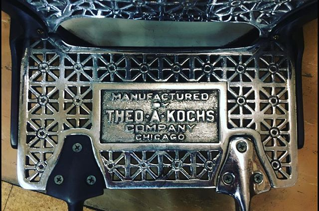 The Theo A Kochs company was one of the very first companies in the business of making quality barber chairs. They were established in Chicago in the late 1800's.