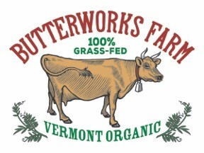 Butterworks Farm - Our cows are a herd of very friendly and sometimes precocious Jerseys. Each has her own name and stanchion in the barn during milking. We choose Jerseys for their ability to produce milk on a 100% grass-fed diet. High fiber and mineral rich grasses, legumes and forages are available to our cows always in the lush, rotationally grazed pastures of summer and the sweet hay in the winter solar barn. All our cows are born here on the farm. These hard-working girls are all business, producing milk of exceptional quality and creaminess and providing a perfect foundation for our superb line of dairy products.