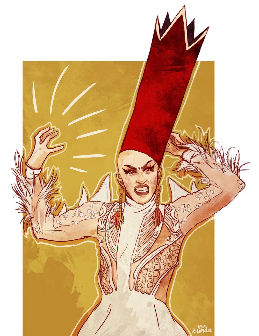 Velour  Portrait of American drag queen and artist, Sasha Velour