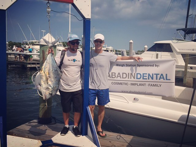 Abadin Dental proudly sponsored the first St. Hugh fishing tournament weigh station. #likeourpage #abadindental #givingback #fishing #dental #ilovemydentist #proudsponser