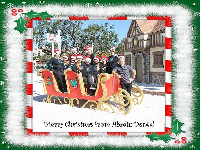 Wishing everyone Peace,Love and Joy this Christmas ! 🎅🏼🎄 #abadindental #merrychristmas2017 #blessed #coralgables
