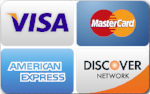 All major Credit Cards            Accepted!