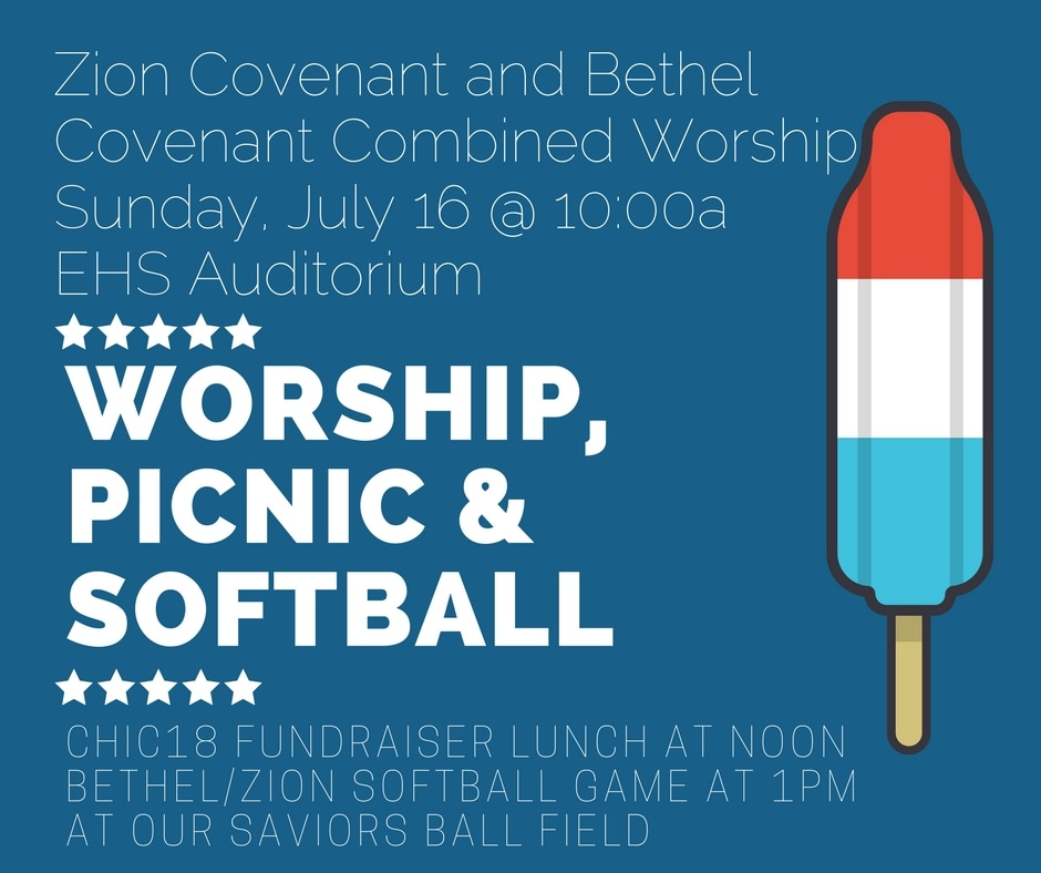 Worship, Picnic and Softball with Zion Covenant Church