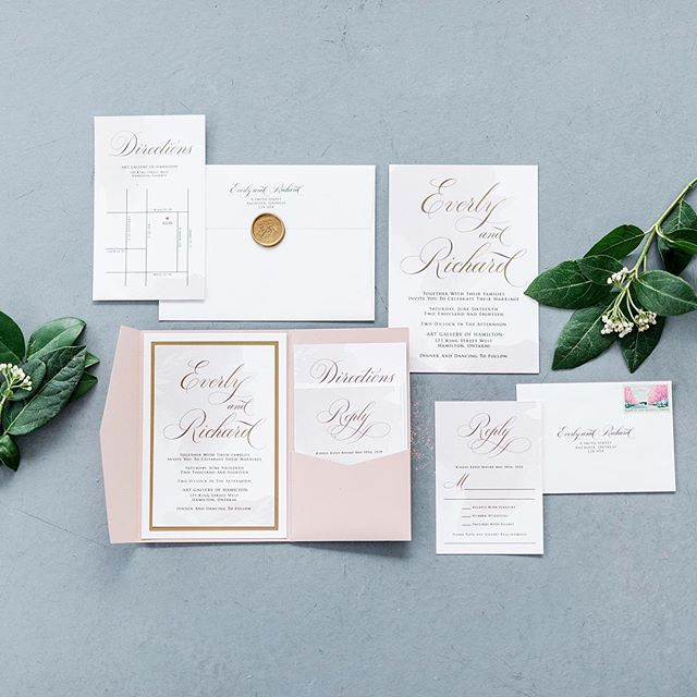 This invitation suite 👏🏻 . . . . Photography: @kasiajurowskiphotography | Venue: @at_theagh | Event Planning: @suegallodesigns | Floral: @suegallodesigns | Stationery: @all_thats_lovely | Wedding Cake: @thedessertroom | Rentals: @specialeventrentals | Linens: @simplybeautifuldecor | Hair and Makeup: @teasedbridal | Signage: @aspecialprint | Styling: @suegallodesigns | Bridal Salon: @bestforbrides | Bride's Shoes: @lechateau | Published on: @elizabethannedesigns . . . #hamiltonbride #torontobride #matchologymade #elegantwedding #instawedding #weddinginspo #weddingideas #weddinginspiration #weddingdecor #instabride #weddingceremony #weddingideas #weddingdetails #canadawedding #suegallodesigns #ohwowyes #weddinginvitations #gtaphotographer #hamiltonweddingphotographer #torontophotographer
