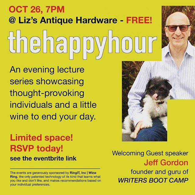 So excited for our next event at Liz's Antique Hardware! #losangeles #wine #writersbootcamp