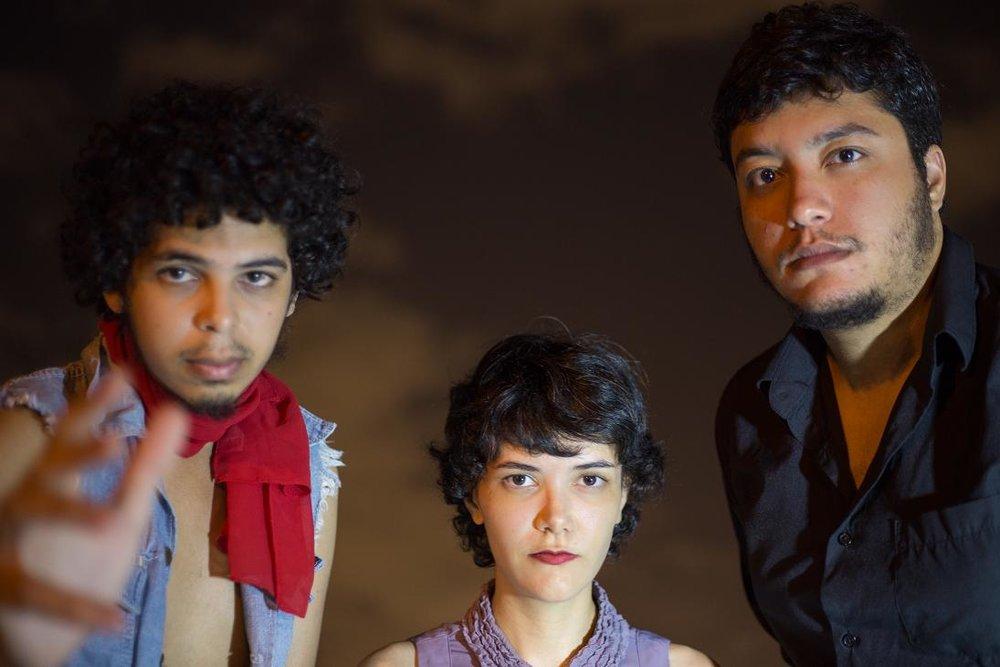 O Trio Alagoano: Pedro Salvador, Lilian Lessa e Thiago Alef.