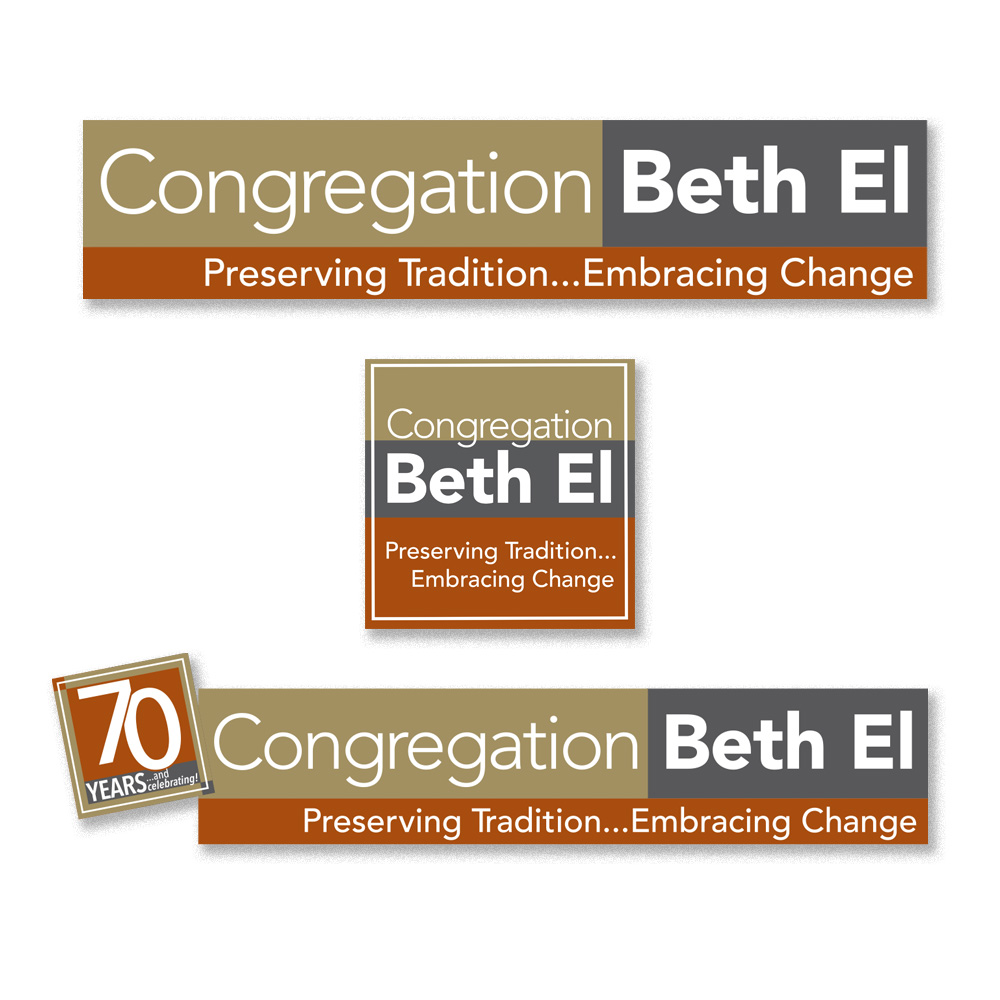 Beth El's logo; square version of logo for social media; 70th Anniversary logo