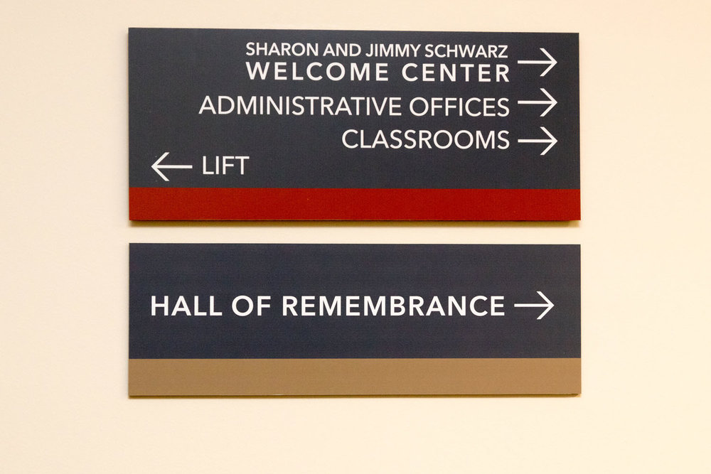 Samples of interior way-finding signs