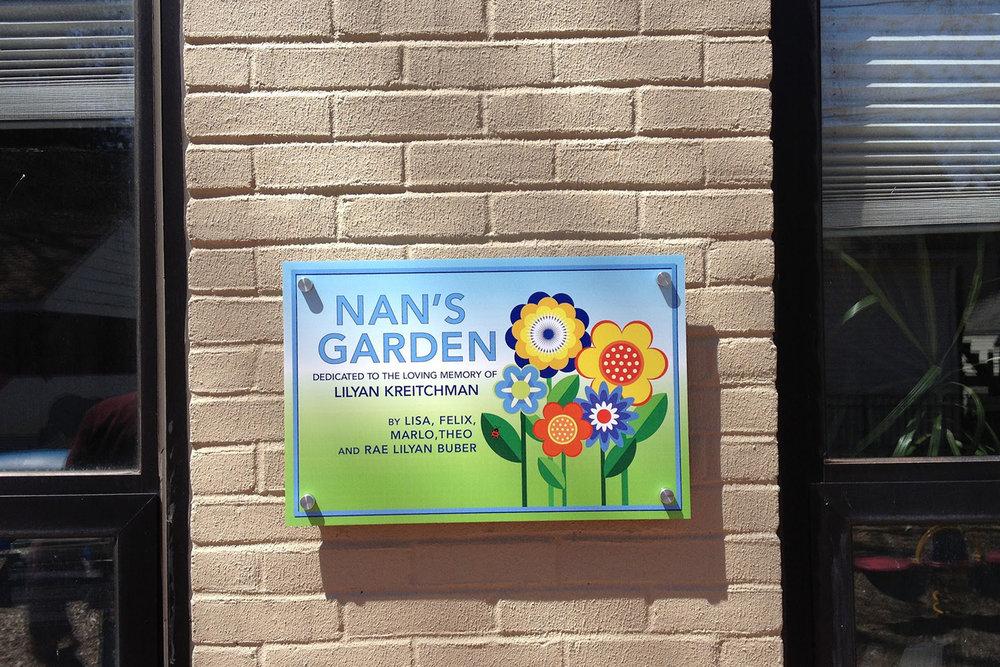 Special sign created for Beth El's Thelma K. Reisman preschool. (Photo by Joy Markel)