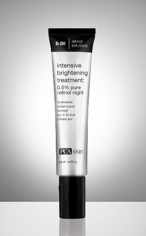 Intensive Brightening Treatment: 0.5% pure retinol night  net wt 1 oz / 29.5 g