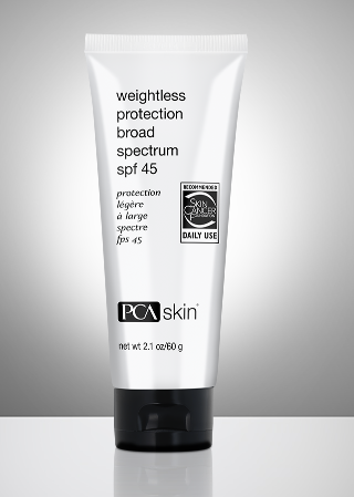Weightless Protection Broad Spectrum SPF 45  net wt 2.1 oz / 60 g