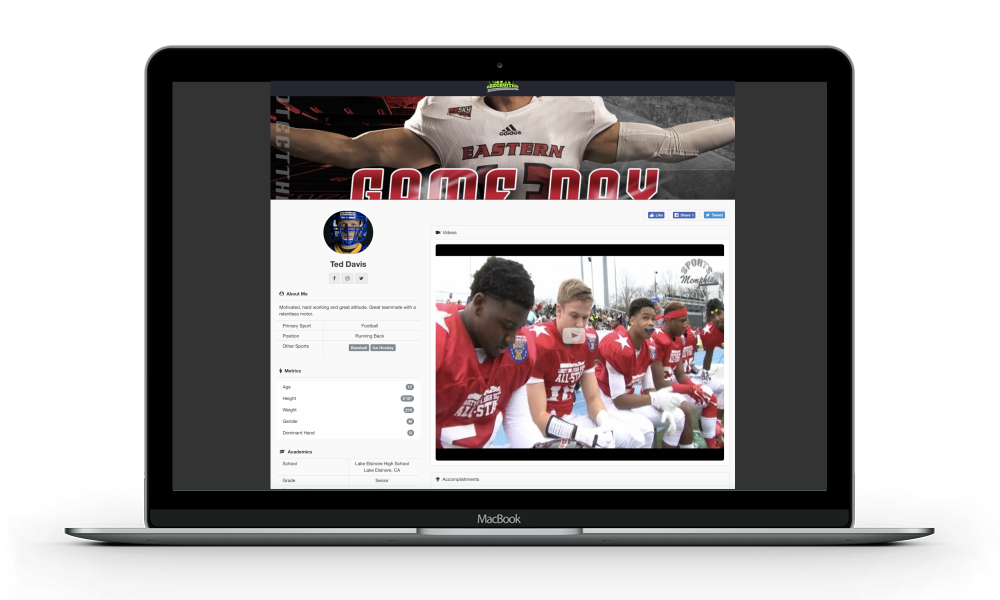 - Unlike most recruiting resumes, we added technology on the back end so you can know which college coaches are looking at it and watching your videos.