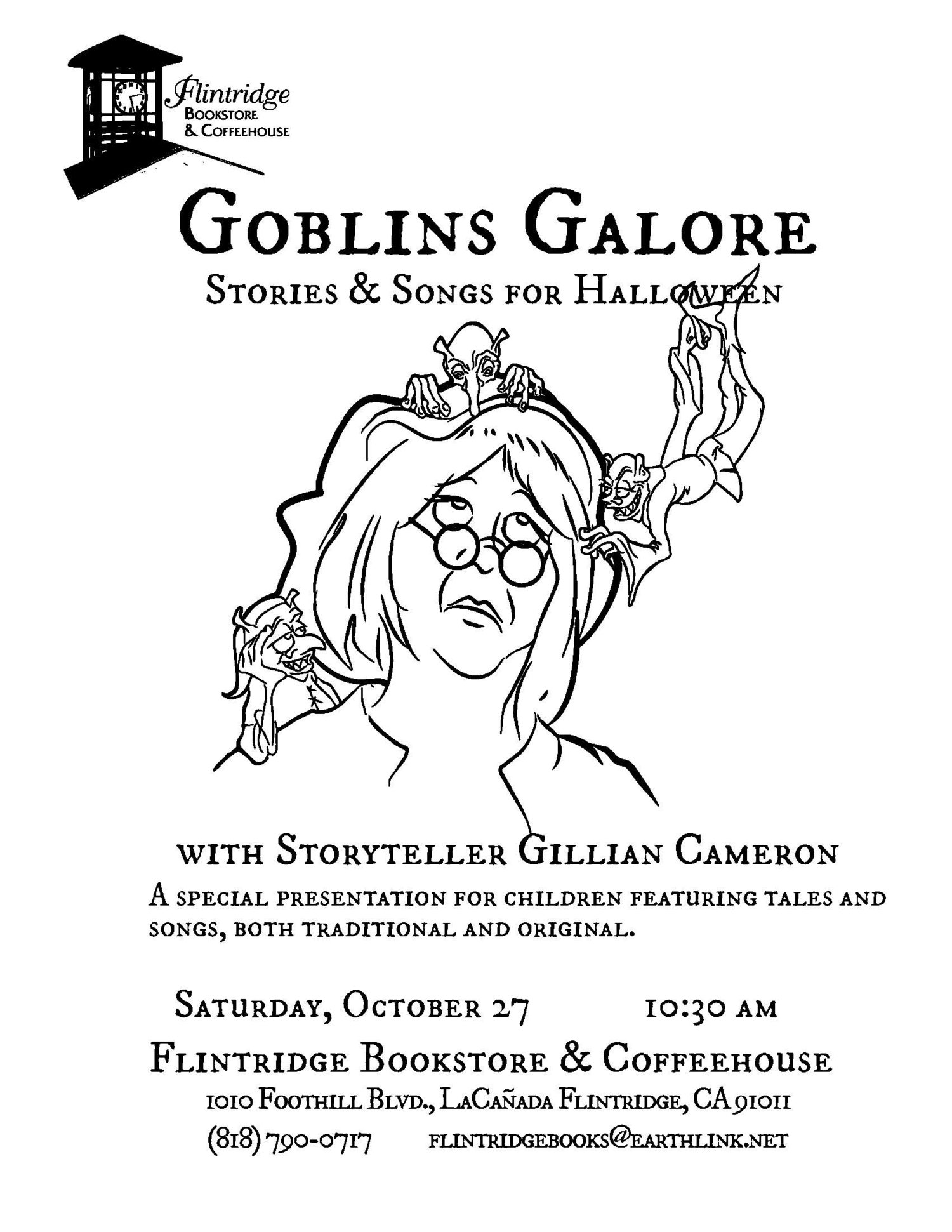 Goblins Galore Stories Songs For Halloween Flintridge Bookstore