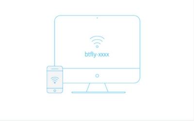 """2. 连接  当供电后,查找""""btfly""""开头的WiFi,使用初始密码12345678连接。电脑或者手机上,将自动弹出一个""""登陆到网络""""的窗口,请在这个窗口内完成第3步。如果未自动弹出,请打开浏览器访问http://192.168.154.1,完成第3步。"""