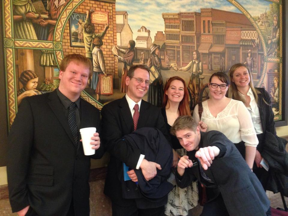 MontPIRG Volunteers and Interns travel to the Capitol in Helena to Testify on Legislation.
