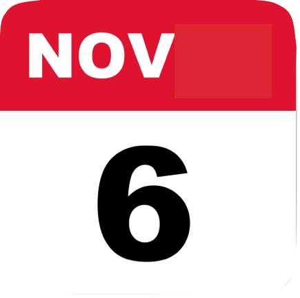 Image of  Calendar Page Showing November 6