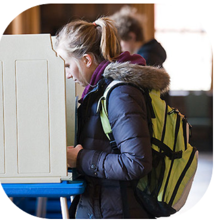 Image of Young Woman Voting