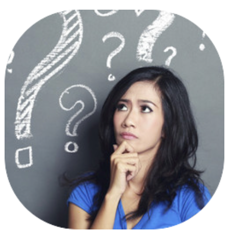 Image of a woman with a confused look on her face