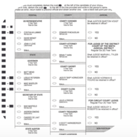 Image of voting ballot