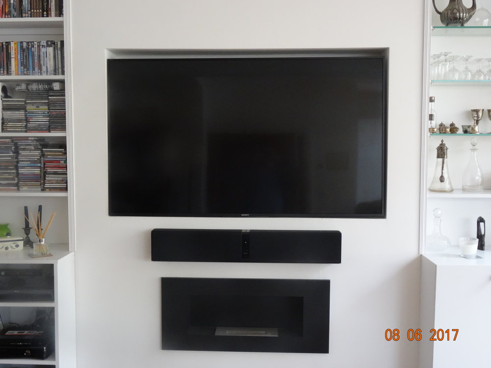 TV and sound bar installation