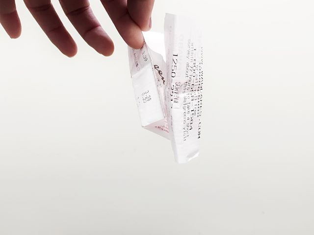 Receipt from Walgreens #recipe #shopping #officetrash #minimal #minimalist #art #documantary #documentaryphotography