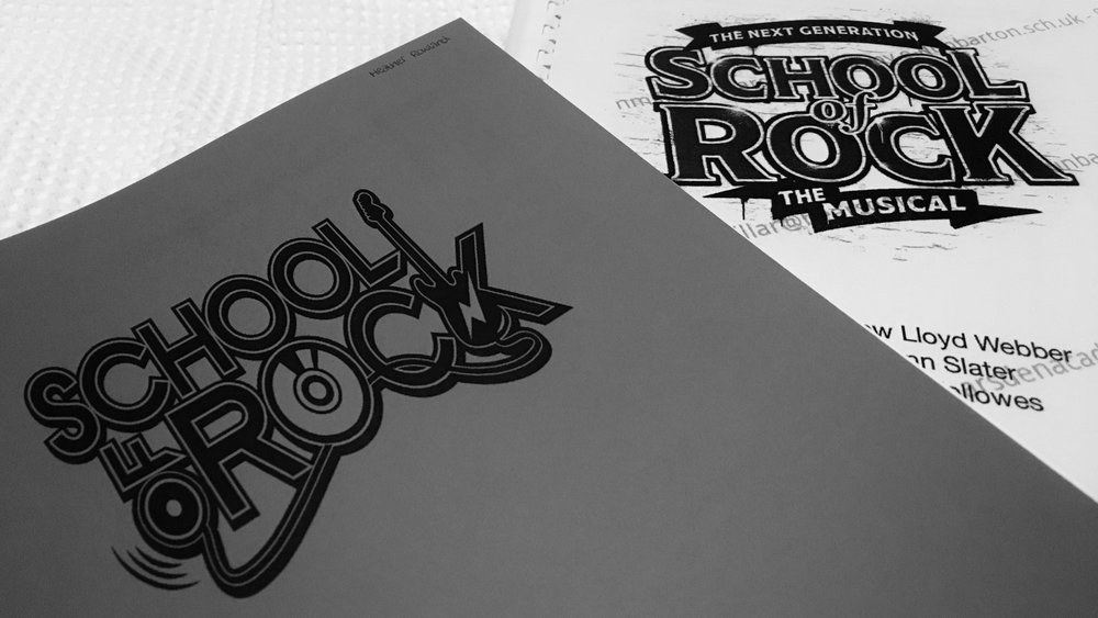 black and white school of rock booklets