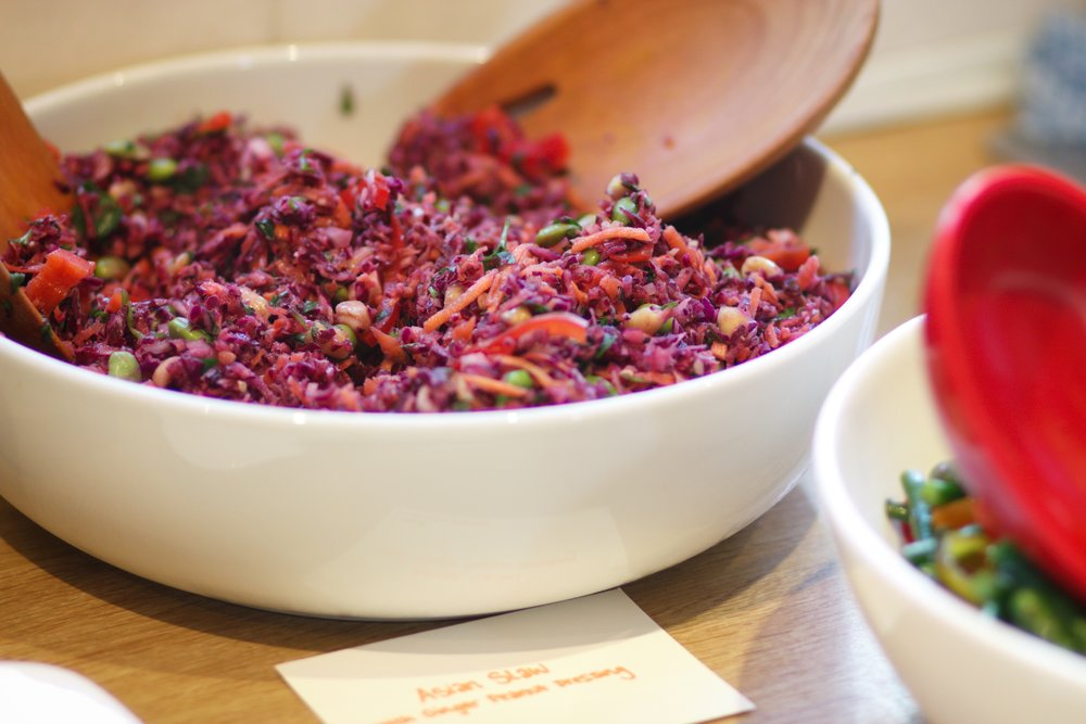 And another part of the mains for the family party - asian slaw with a ginger peanut dressing.
