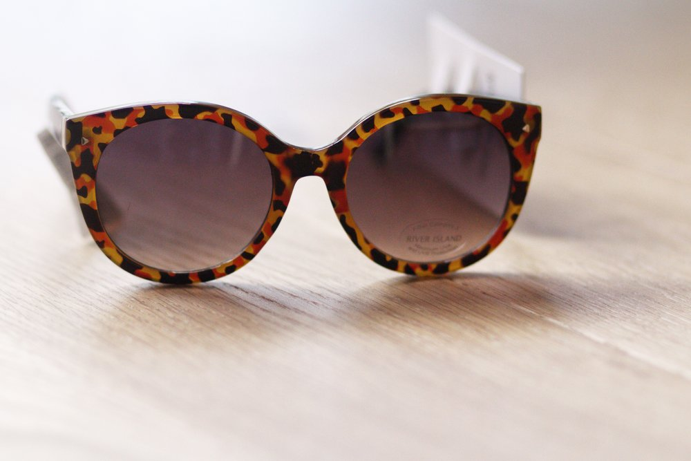 Brown Tortoise Steel Cat Eye Sunglasses from River Island