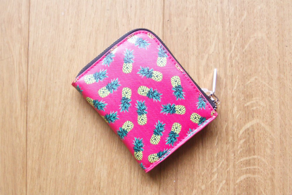 Pineapple Zip Card Holder Wallet from Urban Outfitters