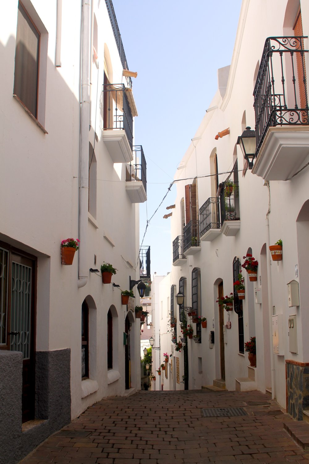 one of the lovely narrow streets in the village