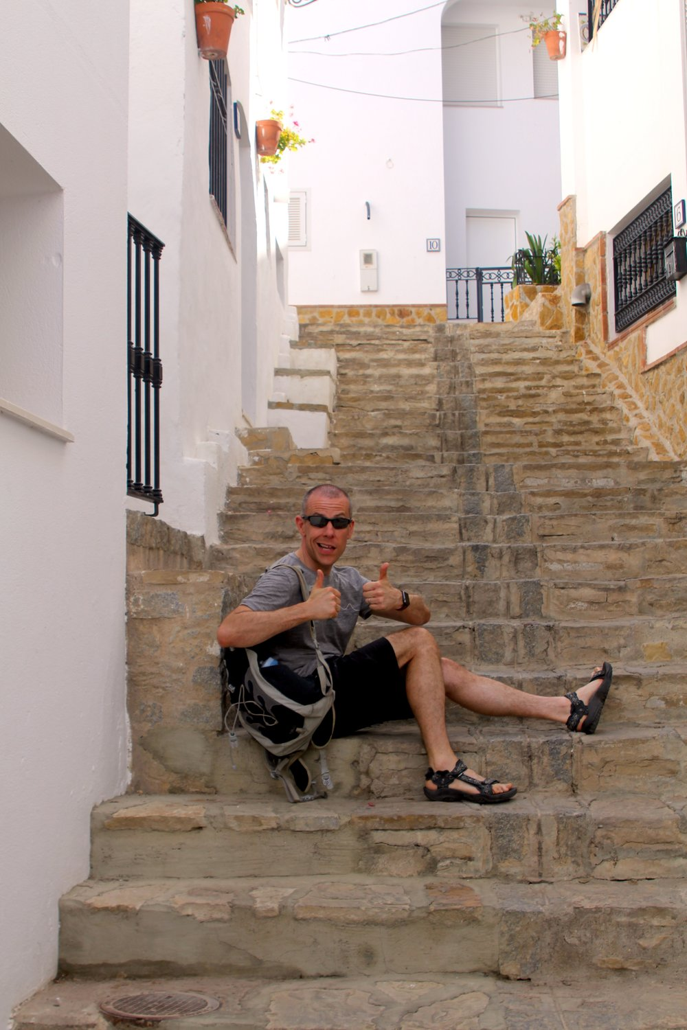 my dad posing on one of the many sets of stairs we climbed up - definitely my favourite picture of the day!