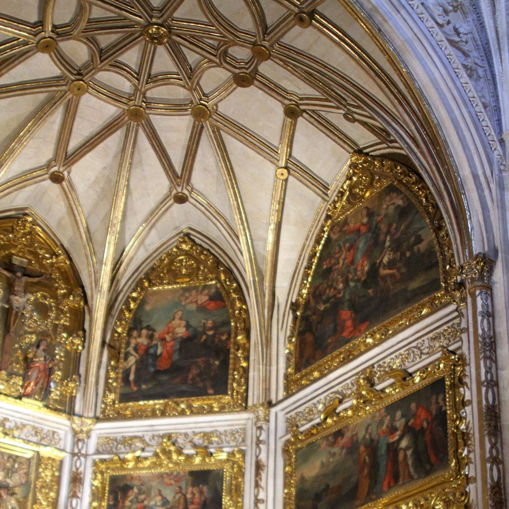 elaborate decorations inside the cathedral