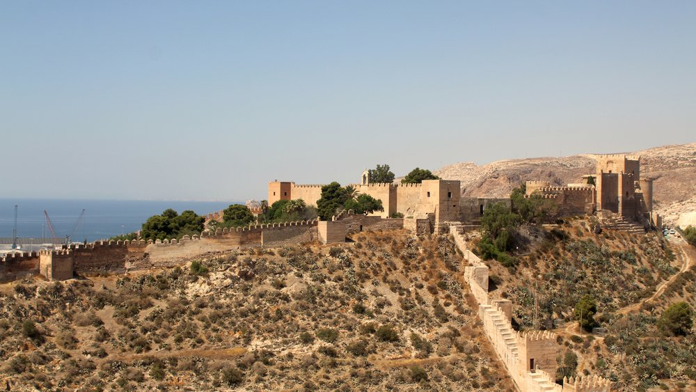 the view of the Alcazaba from the statue of the sacred heart of Jesus