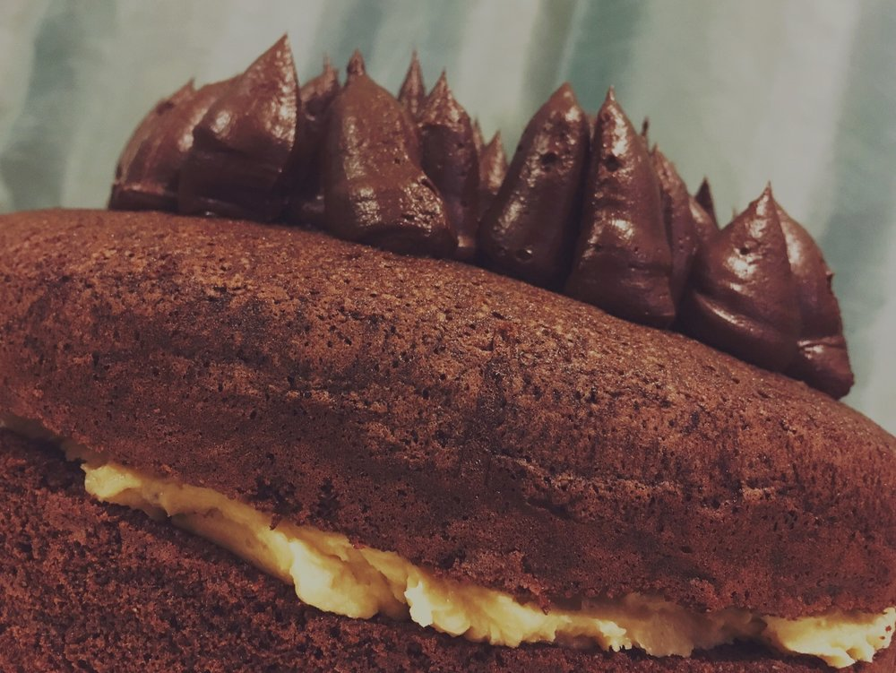 5 November 2015 - chocolate chiffon cake with salted caramel buttercream
