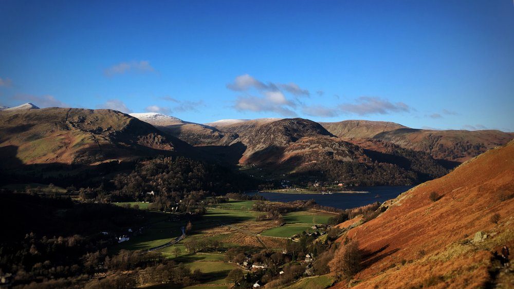 a beautiful view of the Lake District on New Year's Day