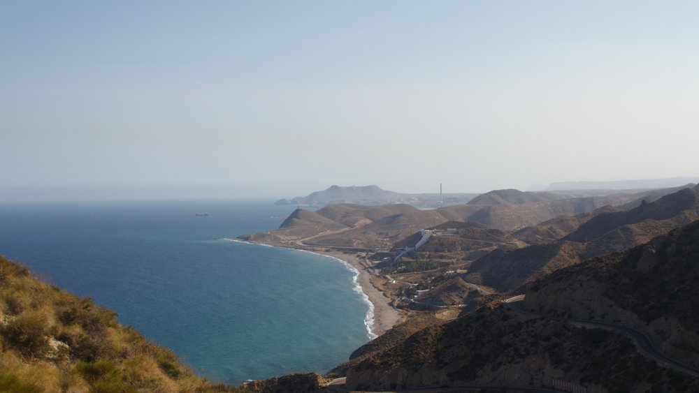 stunning view of the beaches and hills at the edge of the Cabo de Gata