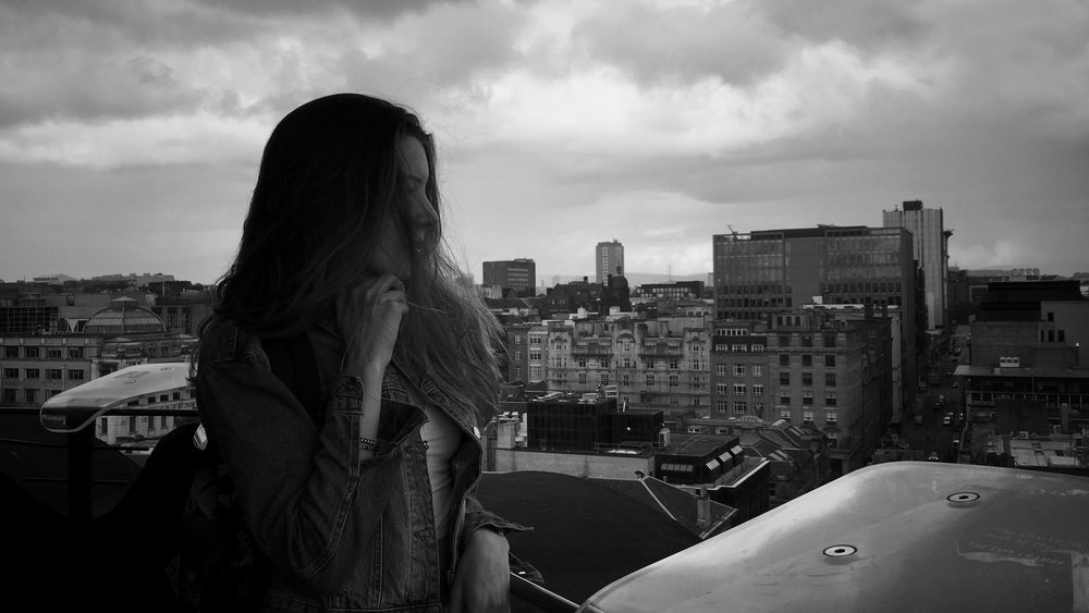 here I am soulfully looking out over the city of Glasgow