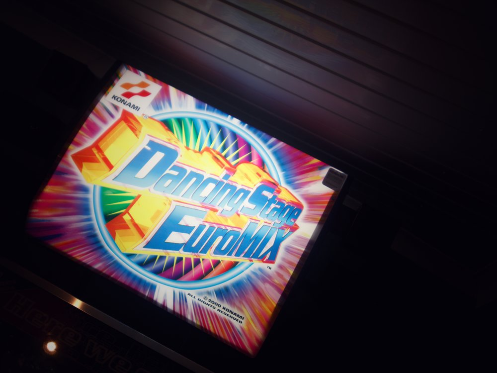 sign for the dancing game I played in the arcade