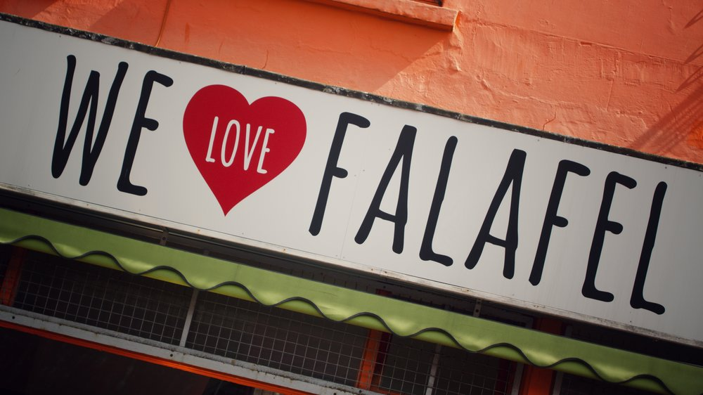 the front of We Love Falafel