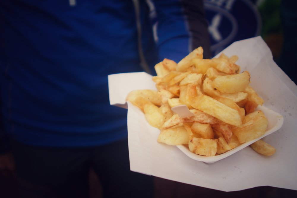 classic chips on the seafront