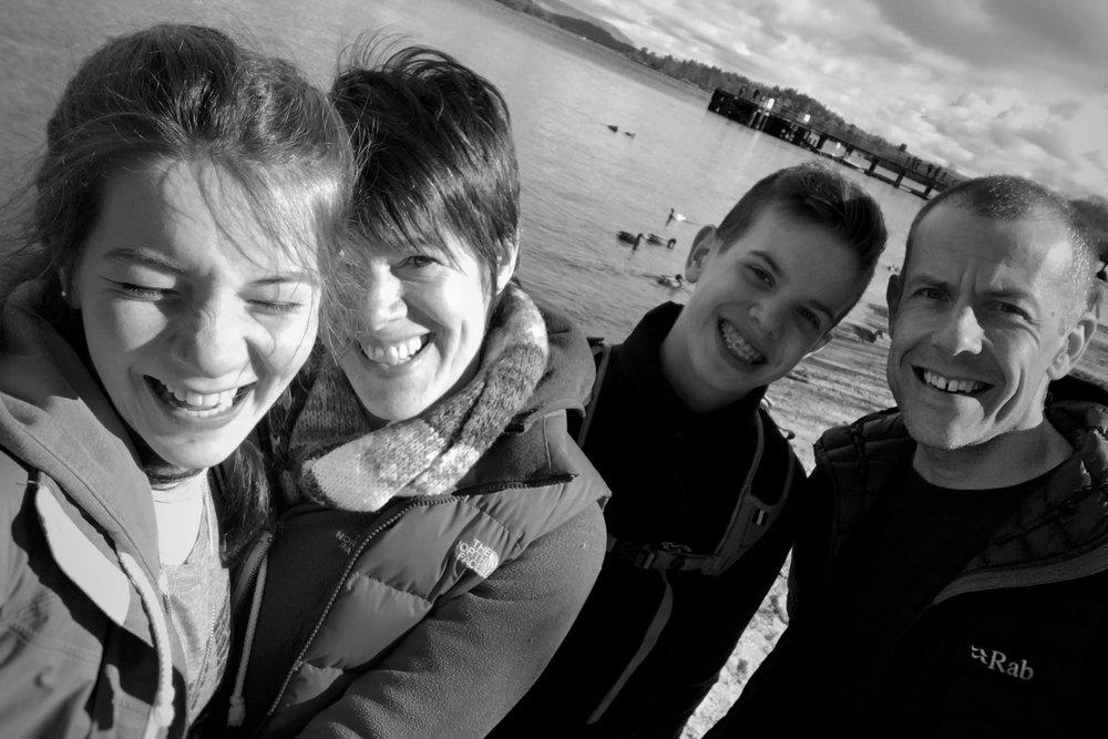 a family selfie last year at Loch Lomond