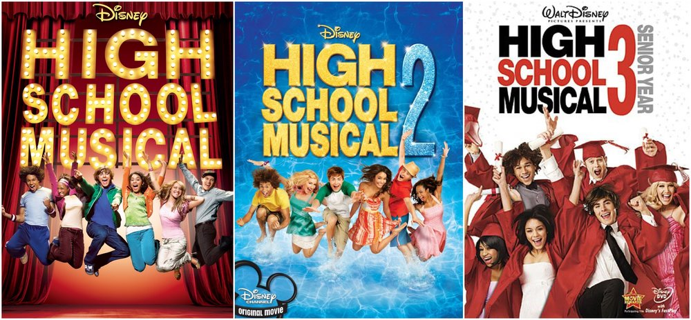 High School Musical movie posters