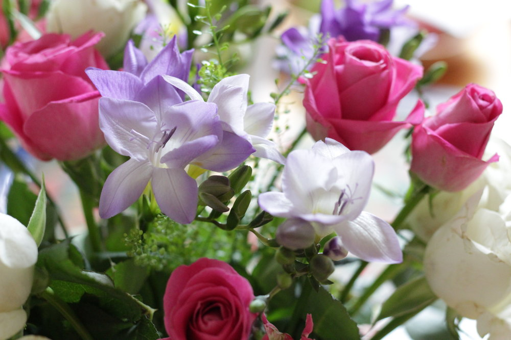 bouquet of pretty flowers for my Nanny's 70th
