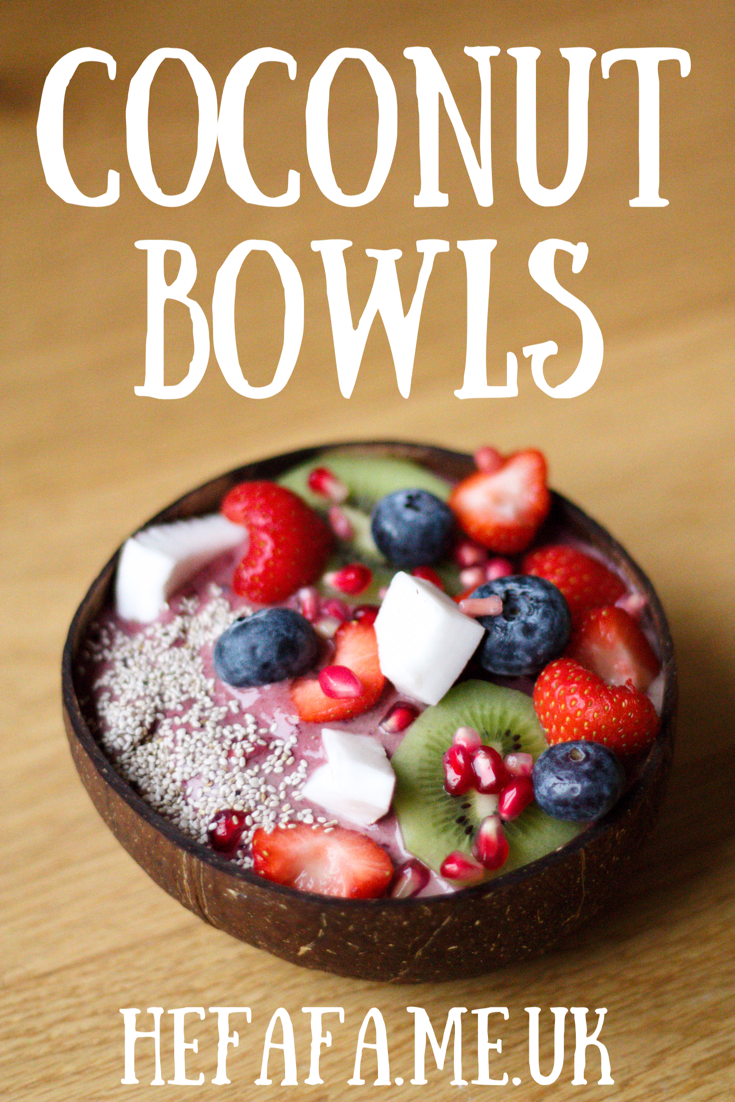 Coconut Bowls (feat. a berry smoothie recipe) - Heather Rowland on hefafa.me.uk // Published 17th September 2017