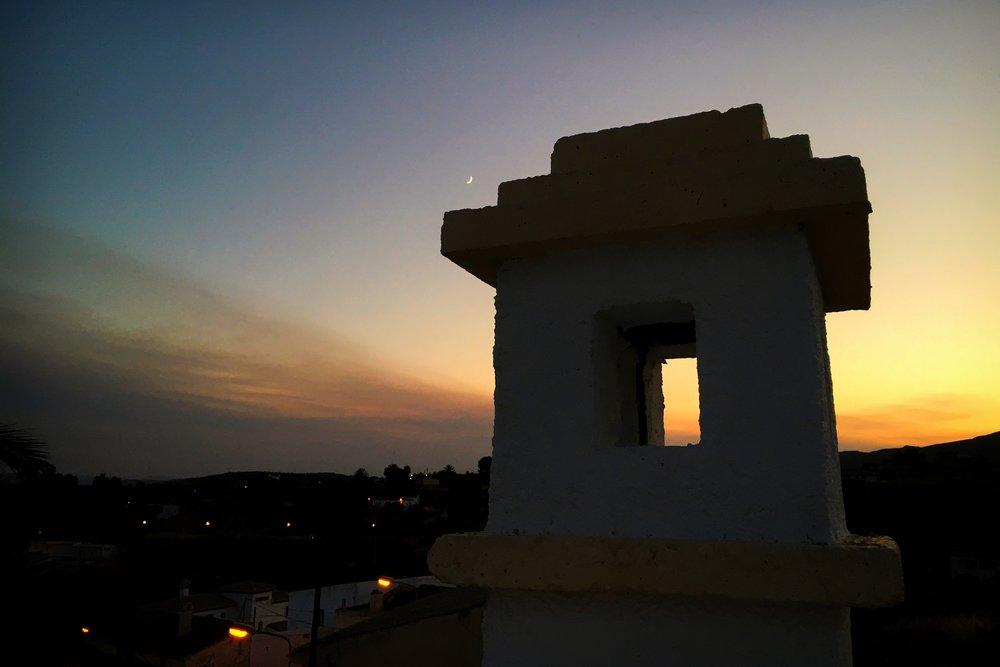 sunset in El Pueblito de Alfaix, Almería, Spain