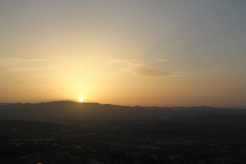 view of the sunset from Mojacar Pueblo