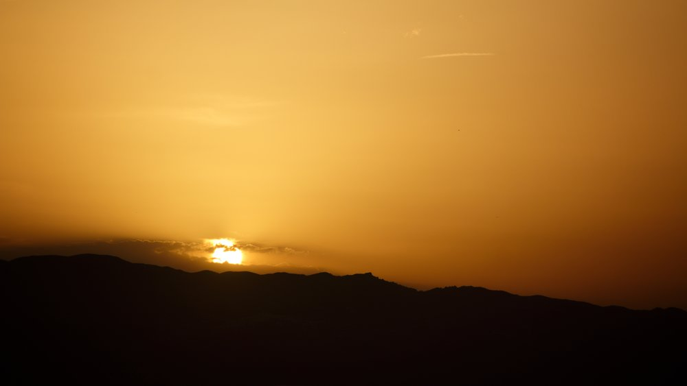 close up sunset from Mojacar PUeblo