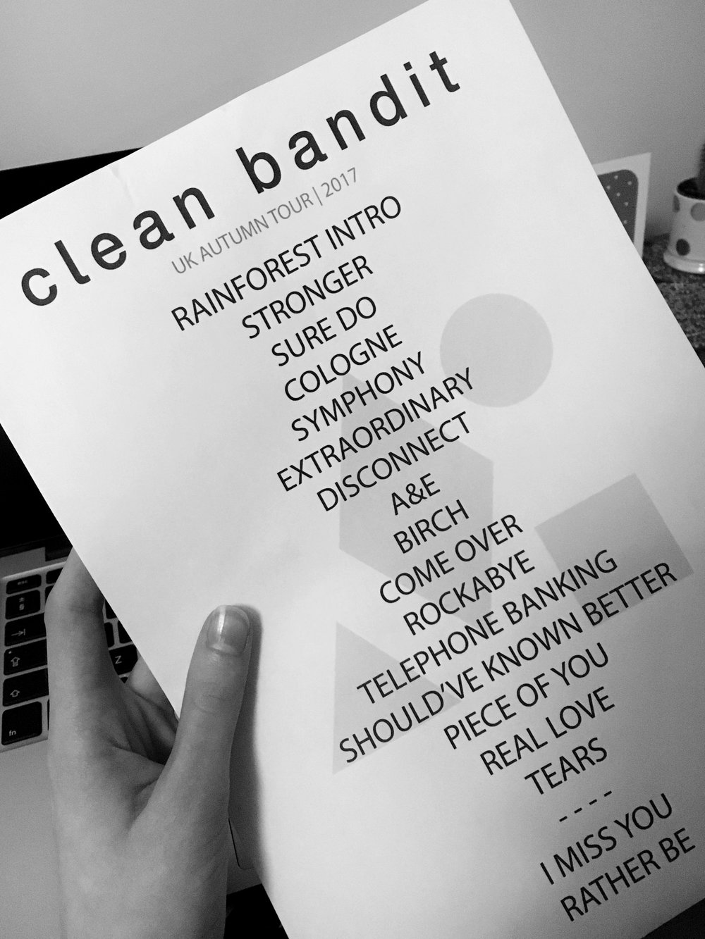 clean bandit set list