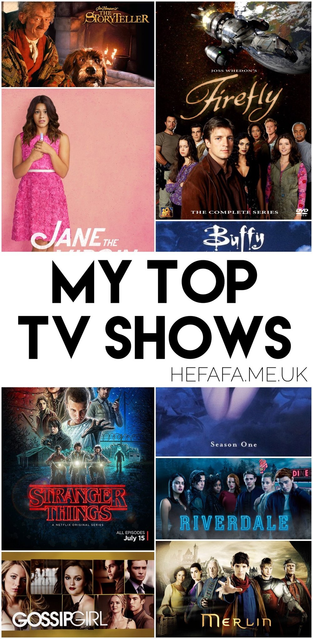 My Top TV Shows, hefafa.me.uk
